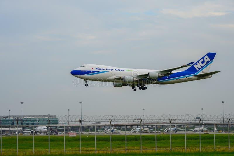 Banguecoque, Tailândia - 30 de julho de 2017: Plano l de Nippon Cargo Airlines foto de stock