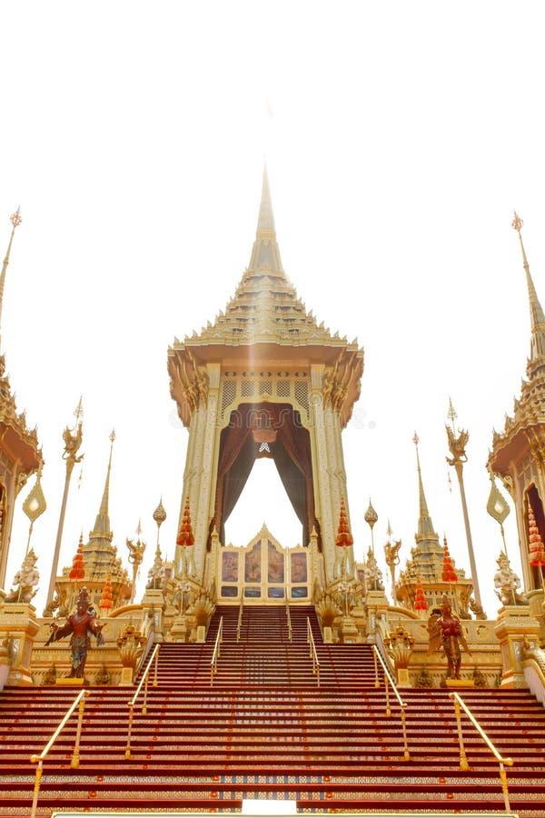 Banguecoque, Tailândia - 4 de novembro de 2017; O crematório real para imagens de stock