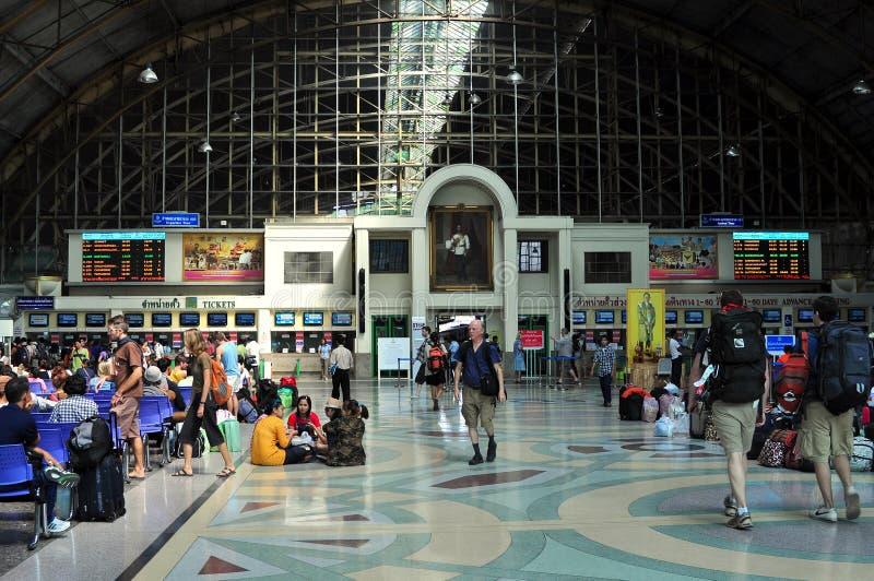 Banguecoque, Tailândia: Estação de comboio de Hua Lamphong fotos de stock royalty free