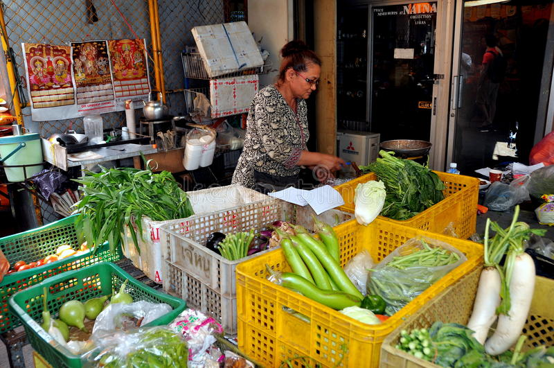 Banguecoque, Tailândia: Mercado em pouco India foto de stock