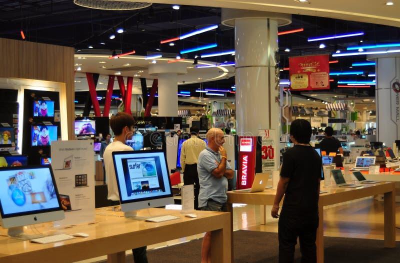 Banguecoque, Tailândia: Serviço do computador no modelo de Sião foto de stock