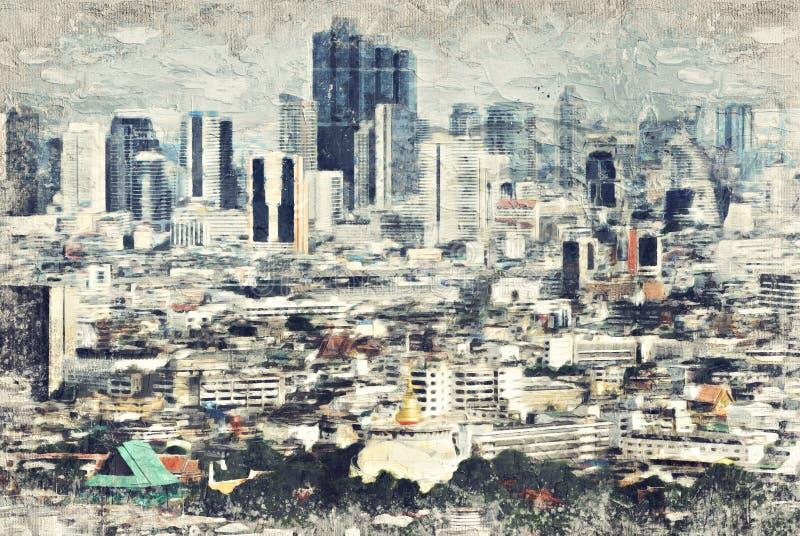 BANGUECOQUE, TAILÂNDIA - 30 DE AGOSTO vista sobre Banguecoque o 30 de janeiro, 200 imagens de stock royalty free