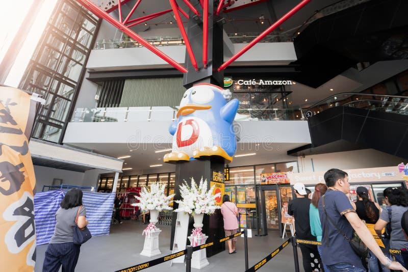 Banguecoque, Tail?ndia - 17 de mar?o de 2019: O armaz?m de Don Don Donki de Jap?o est? aberto para turistas em Banguecoque fotos de stock royalty free