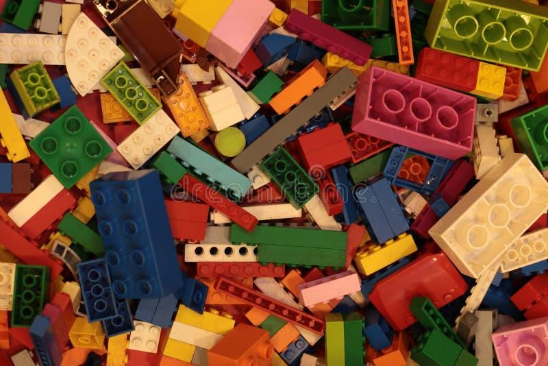 Banguecoque Tail?ndia em setembro de 2018: Fundo do brinquedo de Lego fotografia de stock royalty free