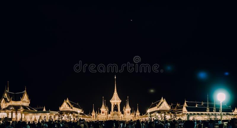 Banguecoque, Thailalnd em novembro de 2017: Opinião do panorama do buildin foto de stock royalty free
