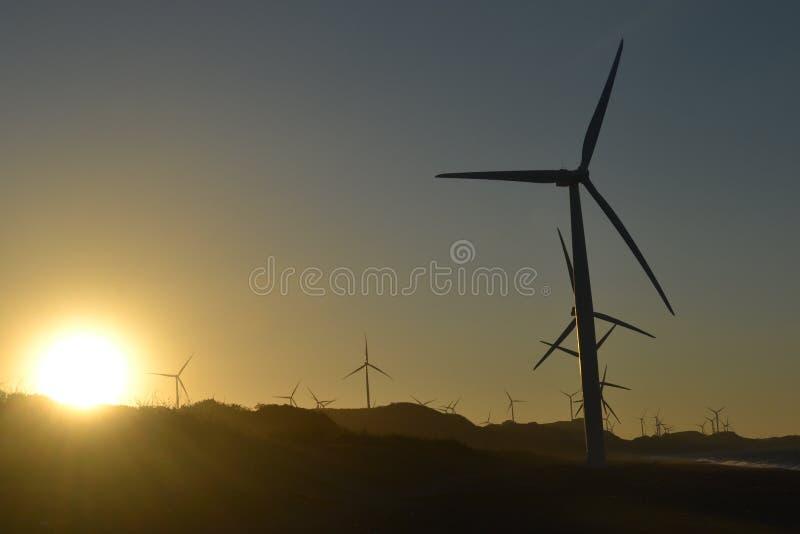 Bangui-Windmühlen lizenzfreies stockbild