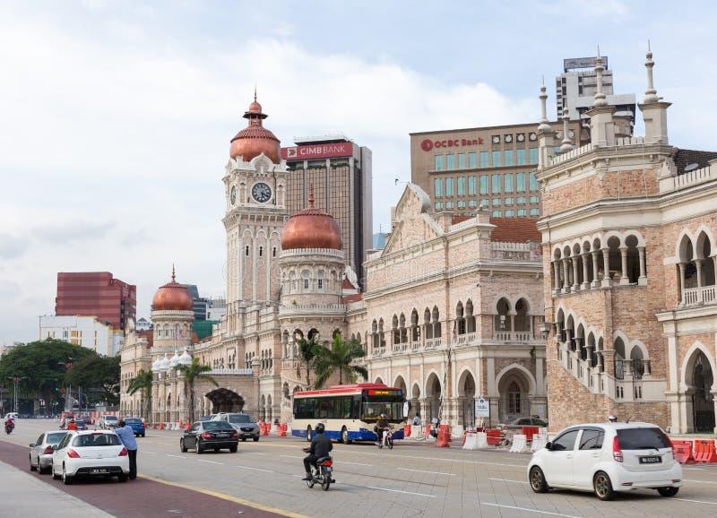 Bangunan Sultan Abdul Samad chez Kuala Lumpur Malaysia image stock