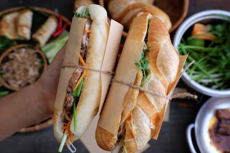 Banh mi, Vietnamees brood royalty-vrije stock foto's