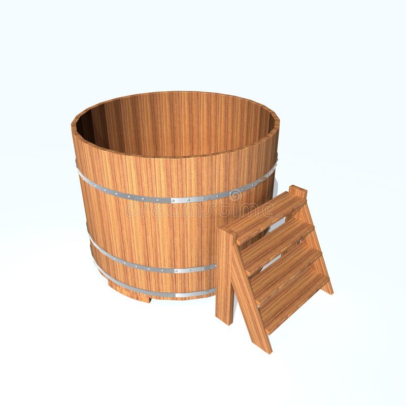Banheira ilustração stock