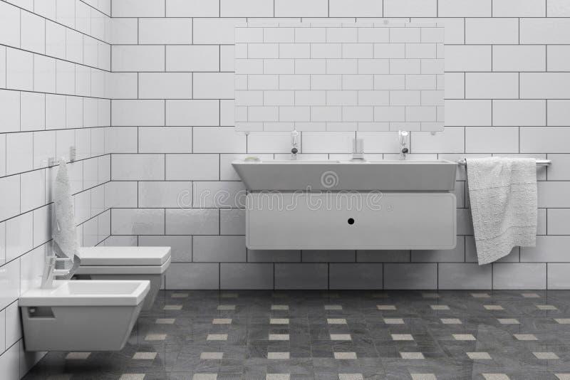 Banheiro ilustração do vetor