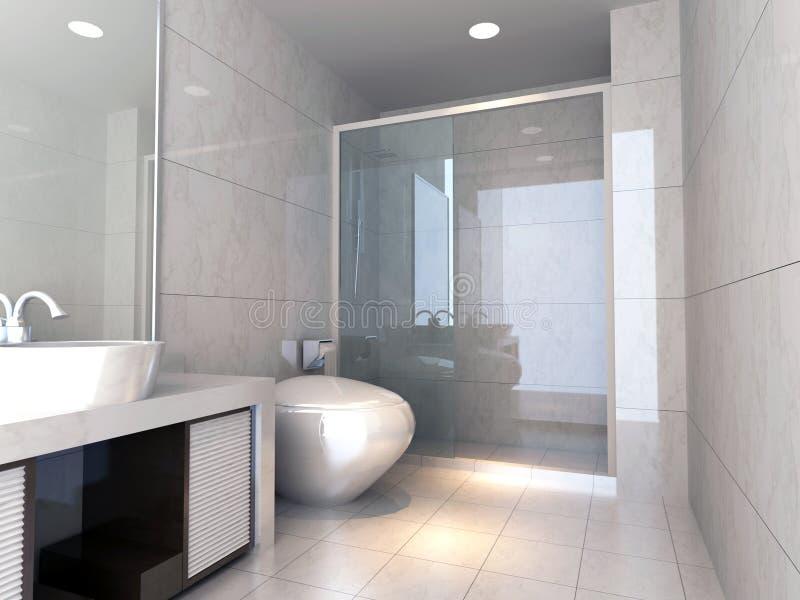 banheiro 3d ilustração do vetor