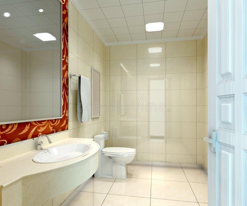 banheiro 3d ilustração royalty free