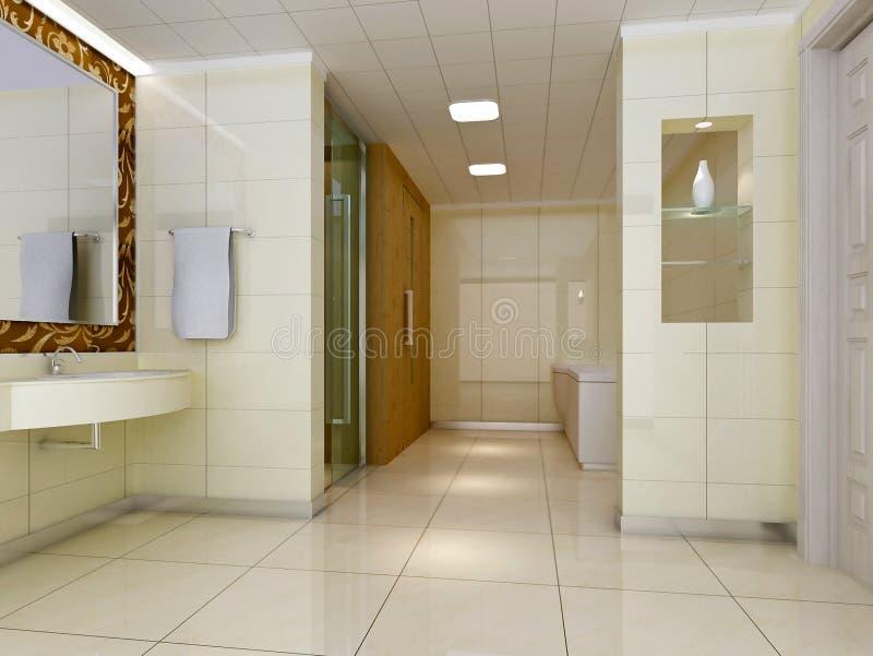banheiro 3d ilustração stock