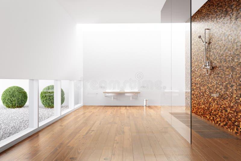 Banheiro com chuveiro ilustração do vetor