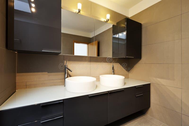 Banheiro, dois dissipadores foto de stock royalty free