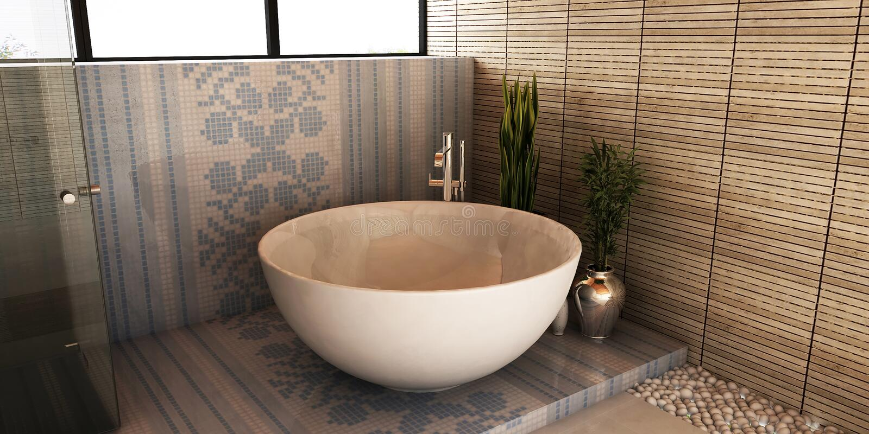 Banheiro dos termas ilustração stock
