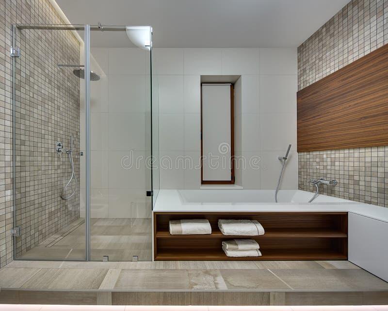 Banheiro Em Um Estilo Moderno Foto de Stock  Imagem 68948144 -> Banheiro Estilo Moderno