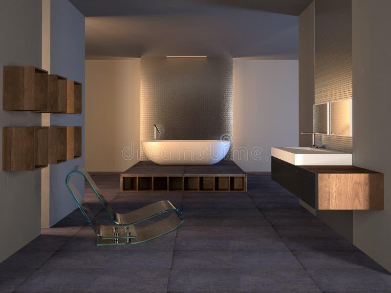 Banheiro europeu moderno foto de stock royalty free