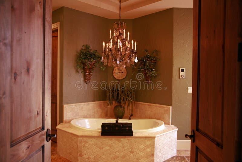 Banheiro feito sob encomenda imagem de stock