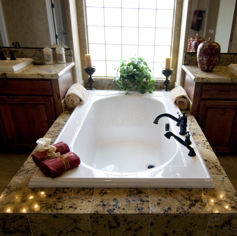Banheiro home novo bonito fotos de stock royalty free