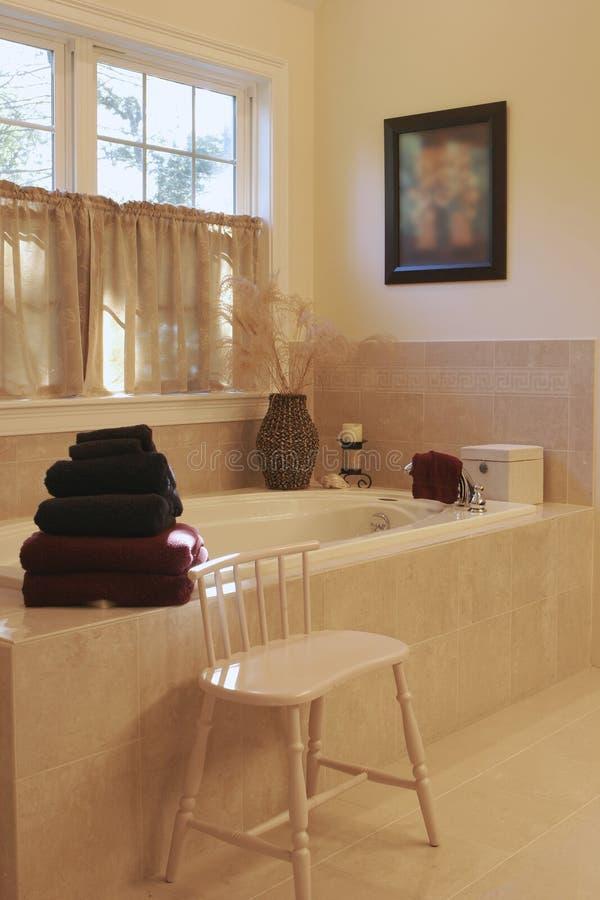 Banheiro interior Home fotografia de stock