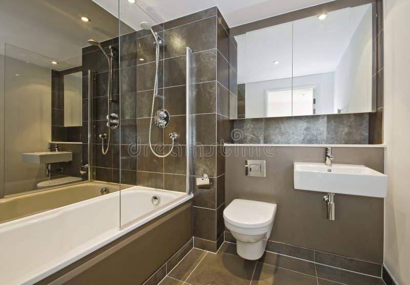 Download Banheiro luxuoso foto de stock. Imagem de marrom, porcelana - 12811532