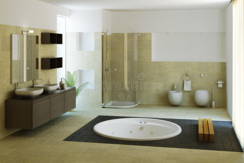 Banheiro luxuoso ilustração royalty free