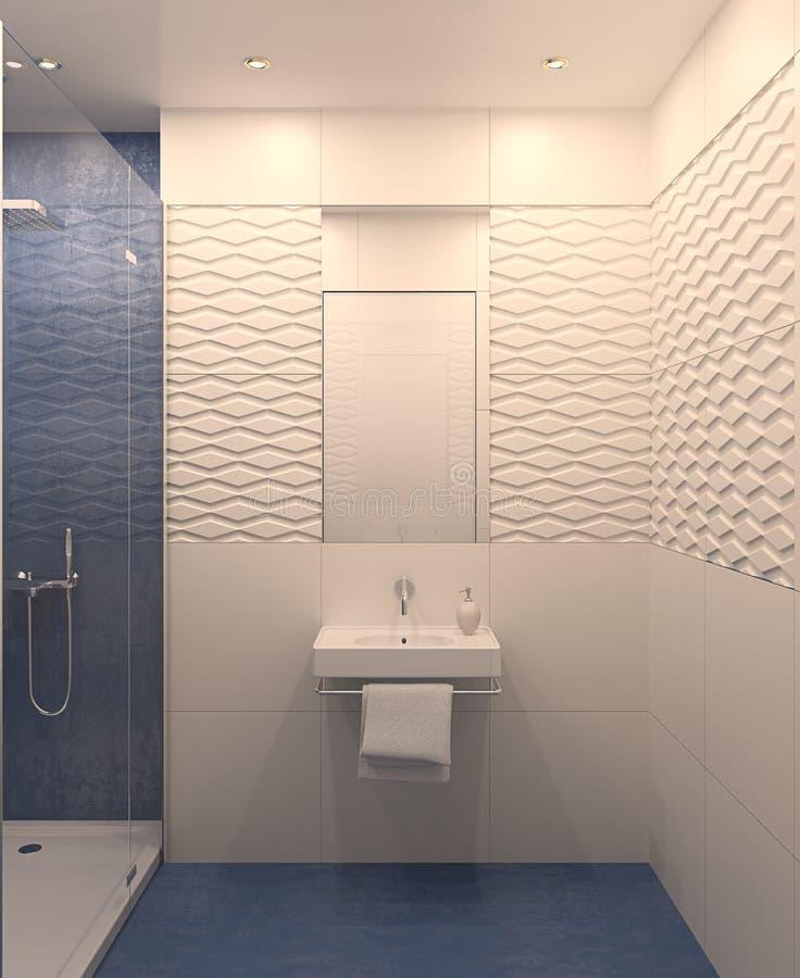 Banheiro moderno. ilustração stock