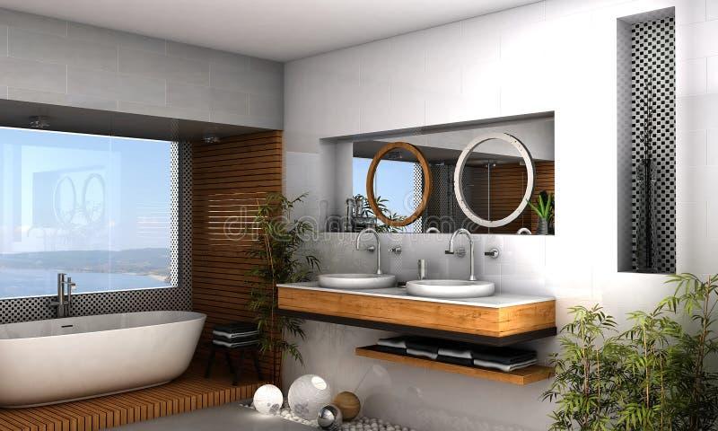 Banheiro moderno ilustração do vetor