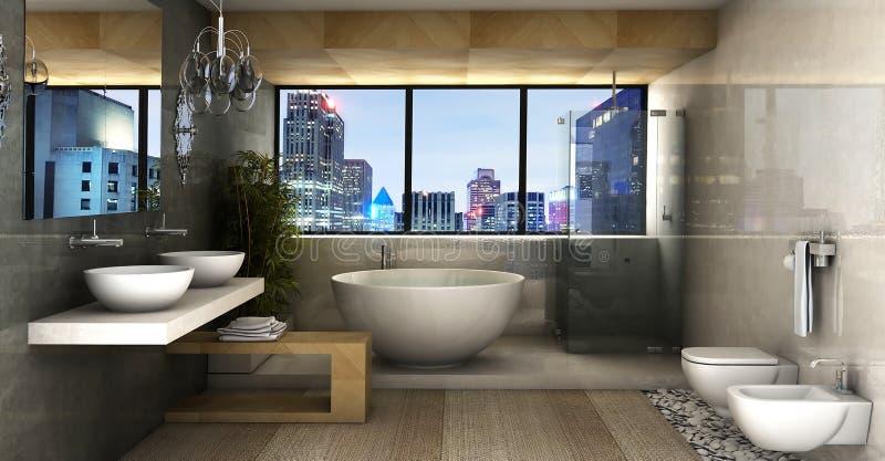 Banheiro moderno ilustração royalty free