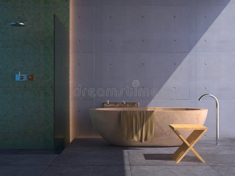 Banheiro moderno (ensolarado) ilustração royalty free