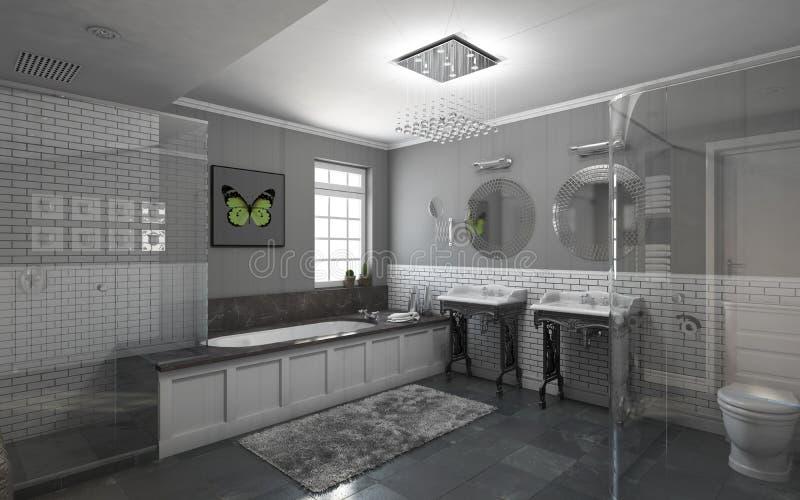 Banheiro no cinza ilustração stock