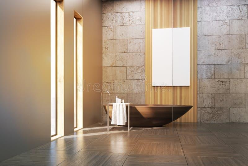 Banheiro no sótão ilustração stock