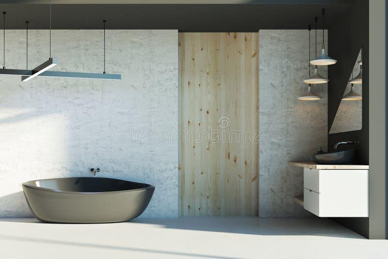Banheiro novo com luz solar ilustração stock