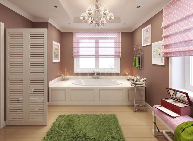 Banheiro para meninas no estilo clássico fotos de stock royalty free