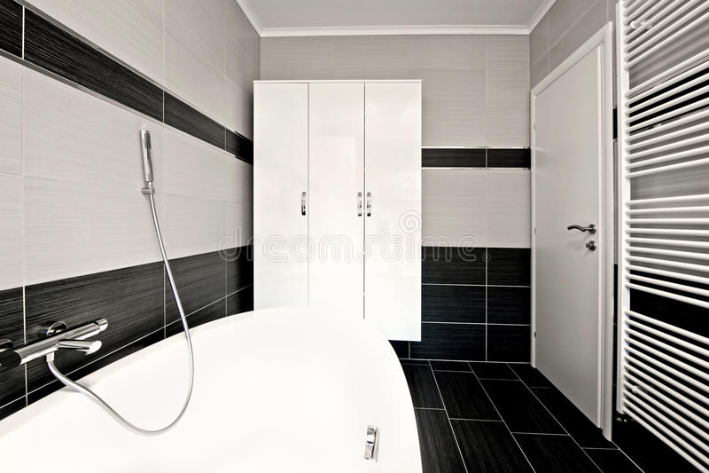 Banheiro preto moderno foto de stock royalty free