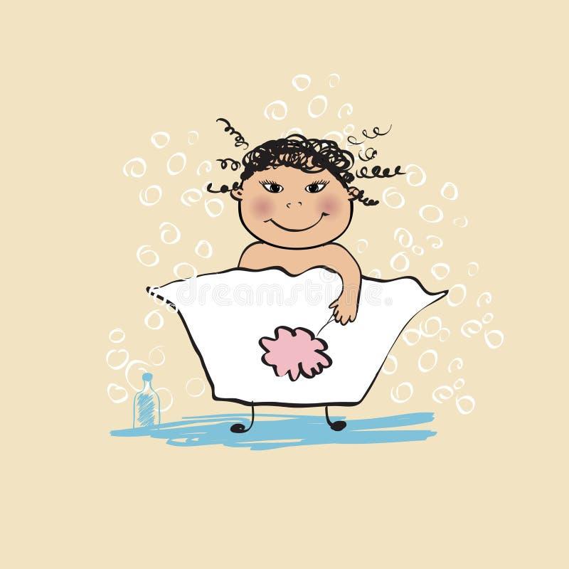 Download Banho ilustração do vetor. Ilustração de banho, frizzy - 10056089
