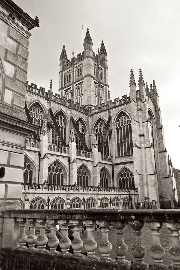 Banho Abbey Church na cidade do banho Inglaterra imagens de stock royalty free