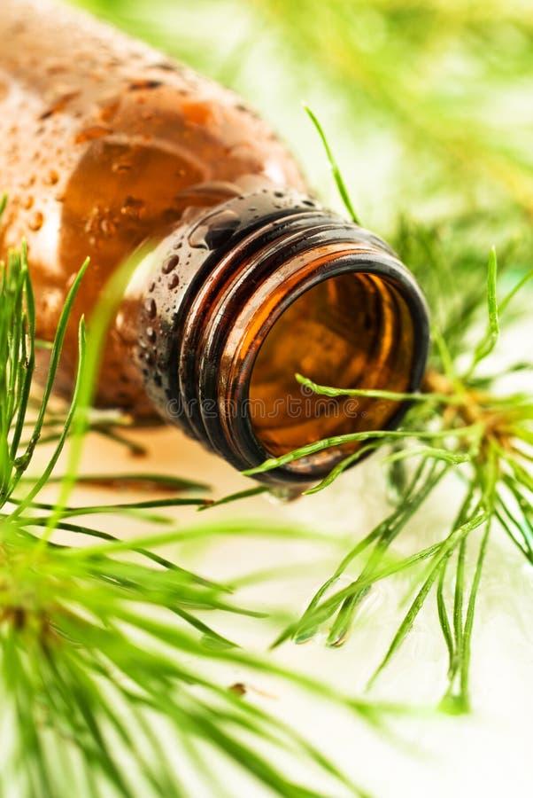 Banho aromático do abeto do petróleo imagem de stock royalty free