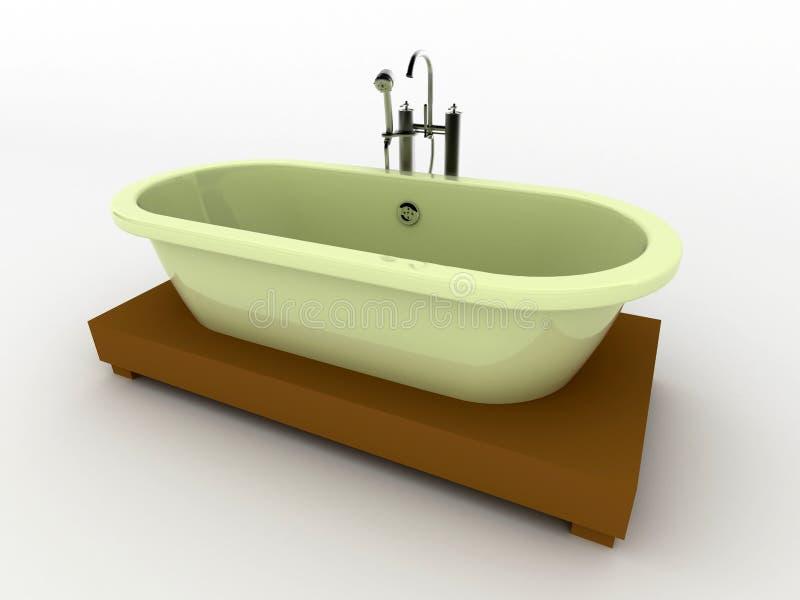 Banho isolado no branco. ilustração do vetor
