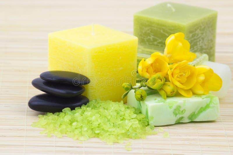 Banho perfumado da frésia foto de stock royalty free