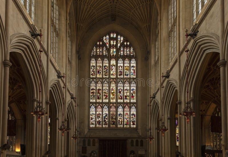 Banho, Somerset, Reino Unido, o 22 de fevereiro de 2019, abadia do banho fotos de stock royalty free