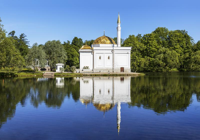 Banho turco, pavilhão em Catherine Park em Tsarskoye Selo, St Petersburg fotos de stock