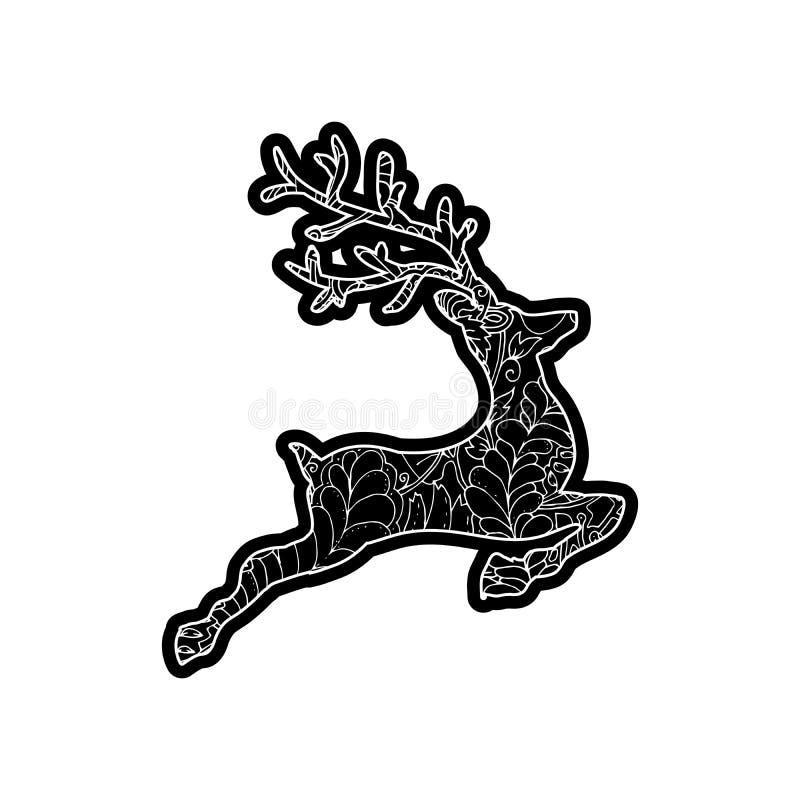 Banhoppning djupt Knockout- utskrivande klistermärke, isolerad clipart vektor illustrationer