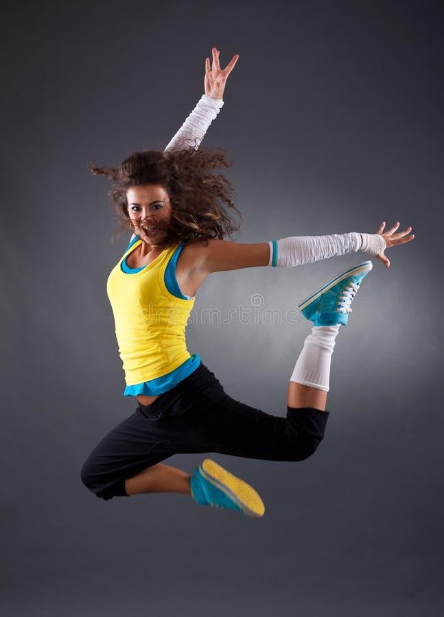 banhoppning för dansarehöftflygtur fotografering för bildbyråer