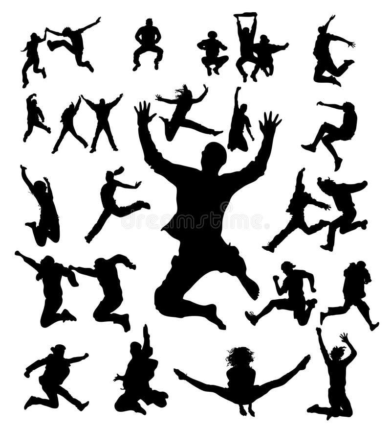 banhoppningfolk stock illustrationer