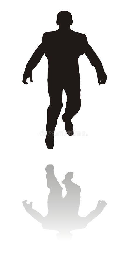 banhoppningman stock illustrationer