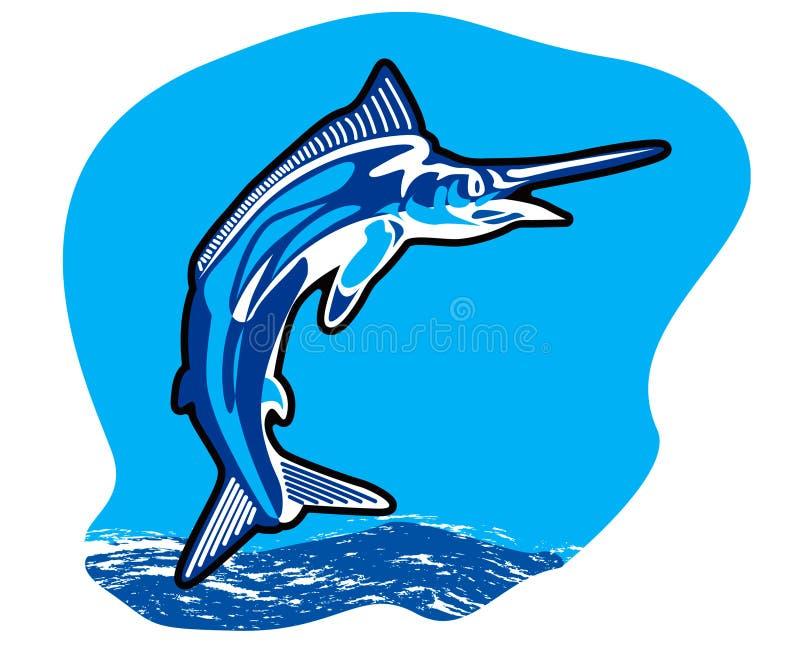Banhoppningmarlinfisk vektor illustrationer