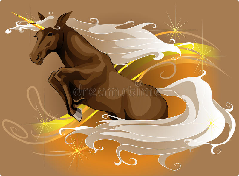 banhoppningunicorn royaltyfri illustrationer
