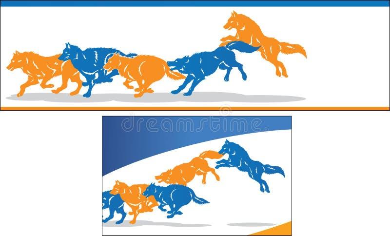 Banhoppningvarger stock illustrationer
